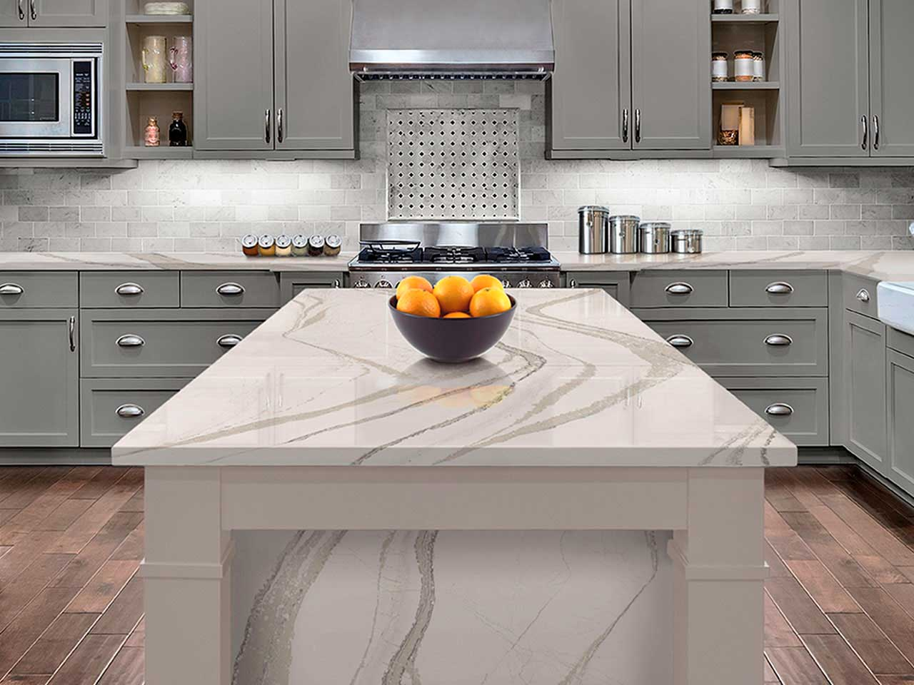 Interiors - Silestone Calcutta Gold for Kitchen & Bathroom Surfaces